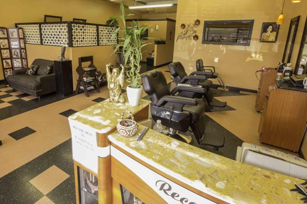 Hair Salon and Seating Area inside Shamim Parlor