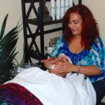 Client Receiving Facial Mask Treatment at Shamim Beauty Parlor
